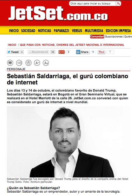 El Guru Colombiano de Internet en JetSet